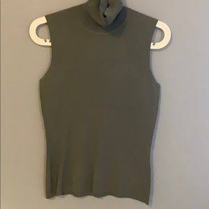 Green sleeveless business casual top